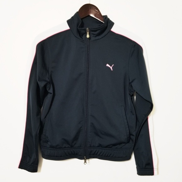 a38e96dc6bdda Puma Vintage Navy/Pink/White Zip Up Track Jacket
